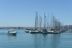 In the sea port Torrevieja. Royalty Free Stock Photo