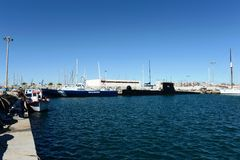 In the sea port Torrevieja. Royalty Free Stock Image
