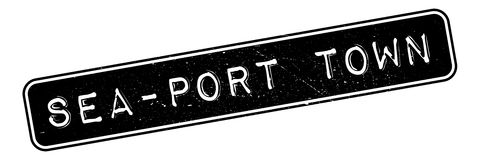 Sea-port town rubber stamp Royalty Free Stock Images
