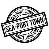 Sea-port town rubber stamp. Grunge design with dust scratches. Effects can be easily removed for a clean, crisp look. Color is easily changed Royalty Free Stock Photography