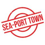 Sea-port town rubber stamp Stock Photos