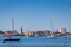 Sea port of Umag city, Istria, Croatia Stock Photo