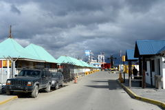 Sea port of Ushuaia - the southernmost city of the Earth. Stock Image