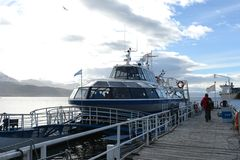 Sea port of Ushuaia - the southernmost city in the world. Stock Photos