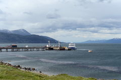 Sea port of Ushuaia - the southernmost city in the world. Royalty Free Stock Photos