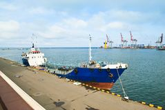 Sea port view in Odessa Stock Images