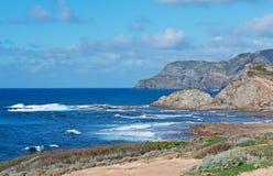 Sea in Porto Palmas. Blue wavy sea in Porto Palmas Stock Photo