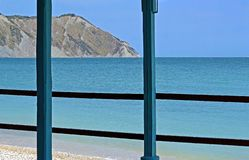 The sea of Portonovo bay, Italy stock photos