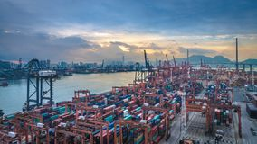 Sea Ports In Hong Kong royalty free stock photography