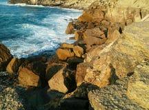 Sea of portugal. Portugal white sea royalty free stock photo