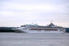 Sea Princess Cruise Ship in New York Harbor during Princess World Cruise 2013 Royalty Free Stock Photography
