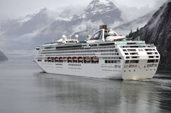 Sea Princess in Glacier Bay Stock Photography