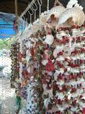 Seashell mobile,Mobile Shells,Local Seaside shop royalty free stock photos