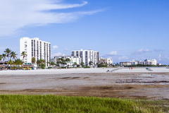 Sea promenade at Fort Myers Beach Royalty Free Stock Photos