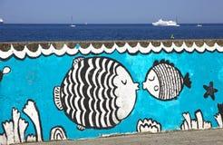 Sea promenade in Gdynia city, Baltic sea, Poland Stock Images