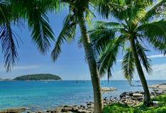 Seaview Nai Harn Phuket. Palm sea Thailand asia Royalty Free Stock Photography