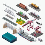 Sea and rail transportation of goods,delivery cargo Stock Images