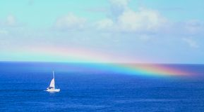 Sea rainbow Royalty Free Stock Photos