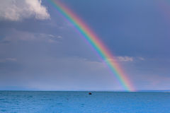 Sea rainbow Stock Image