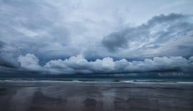 Sea on a rainy day Royalty Free Stock Image