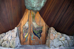 Sea Ranch Chapel front door Stock Photo