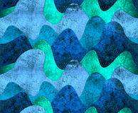Sea raster illustration. Waves seamless pattern Royalty Free Stock Photos