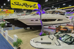 Sea Ray boats on display Royalty Free Stock Images