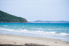 Sea in Rayong, Thailand . Royalty Free Stock Photo