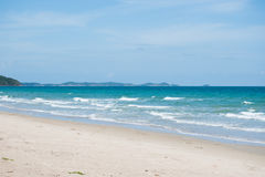 Sea in Rayong, Thailand . Stock Photography