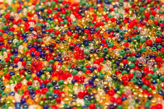 Colored beads closeup Stock Images
