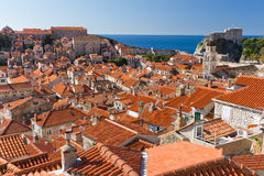 Sea of Red Rooftops in Dubrovnik, Croatia Stock Photography