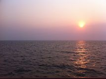 The calm sea in a sunset Royalty Free Stock Photos