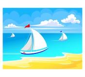 Sea regatta Royalty Free Stock Images