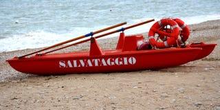 Sea-rescue. A sea rescue captured on P.S.Elpidio beach Stock Photography