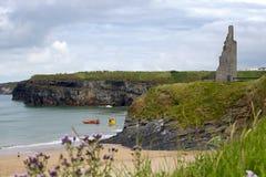 Sea rescue at ballybunion cliffs Royalty Free Stock Photos