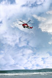 Sea rescue helicopter cliff and coastal search Stock Images