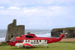 Sea rescue landing Royalty Free Stock Images
