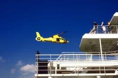 Sea rescue landing Stock Photos