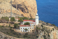 The Sea Reserve of San Antonio Cape. Lighthouse Denia, Spain Royalty Free Stock Image