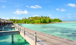 Sea Resort. The beautiful Maldives Sea Resort Stock Photo