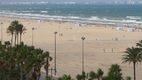 Sea resort coast. Valencia, Spain. Valencia is the capital of the autonomous community of Valencia and the third largest city in Spain stock footage