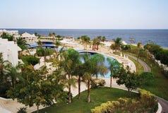 Sea resort park. Egypt stock photo