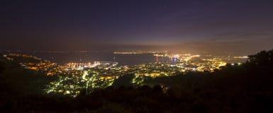 Sea resort of Roses, Costa Brava, Spain. Night scene Royalty Free Stock Photography