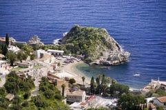 Sea resort Taormina. In Sicily Italy Royalty Free Stock Photo