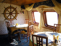 Sea-restaurant. Interior. Russia. Vladivostok. Sea-restaurant. Interior stock images