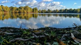 Sea in Rinteln in autumn. Autumn Sea in Rinteln Germany stock photos