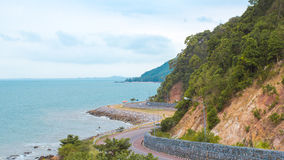 Sea road. Is seen here taking the scenic hill queen.Wiman,Chanthaburi,Thailand for Bay Stock Photos