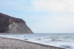 Sea Roccia sulla riva Fotografie Stock
