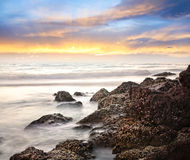 Sea and rock background Stock Photo