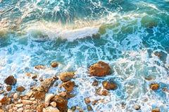 Sea rock beach, background Royalty Free Stock Photos